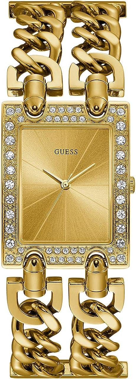 Guess - Reloj analógico para Mujer, Metal Pesado con Correa de Acero Inoxidable