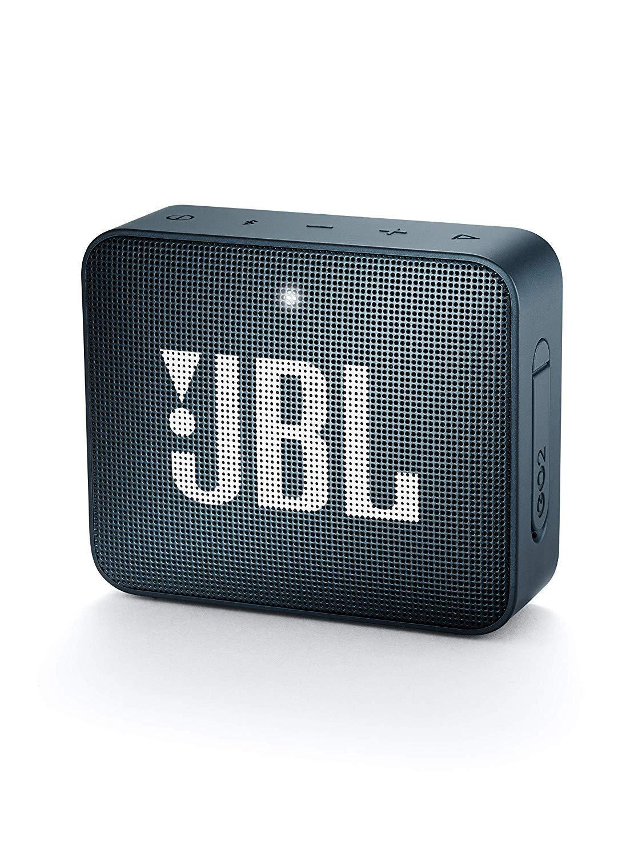 JBL GO 2 Speaker Bluetooth Portatile, Cassa Altoparlante Waterproof IPX7 con Microfono, Funzione di Noise Cancelling, fino a 5 h di Autonomia, Blu Scuro Navy