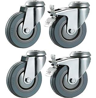 50 mm no marca gris duro de goma ruedas (freno) – 10 mm Perno