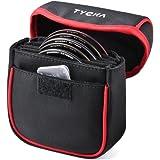 Bolsa de Filtro Portátil de Cámara Tycka, filtros hasta 86 mm Redondos, Forro Interior extraíble y Resistente al Agua y al Polvo, Negro