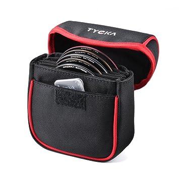 Bolsa de Filtro Funda Portátil de Cámara Tycka, 5 Bolsillos Funda Caso, filtros hasta 86 mm Redondos, Forro Interior extraíble y Resistente al Agua y ...