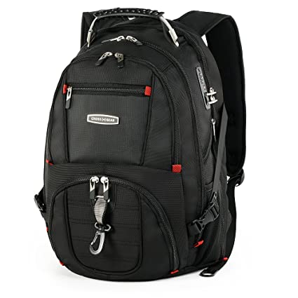 43f1cc7470 Amazon.com  Cross Gear TSA Laptop Backpack with USB Charging Port and  Combination Lock Waterproof - Fits Most 17.3 Inch Laptops and Tablets  CR-8112BKXL  ...