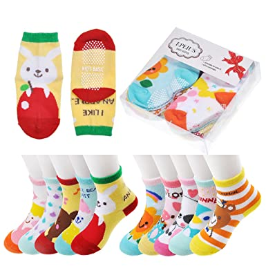 Epeius 10 Pairs Baby Toddler Anti Slip Skid Socks Baby Girls Boys
