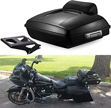 Us Stock Advanblack Detachable Tour Pack Mount Rack Black Luggage Mounting Bracket Fit for Harley Touring Street Glide Road Glide Road King Electra Glide 2009-2019