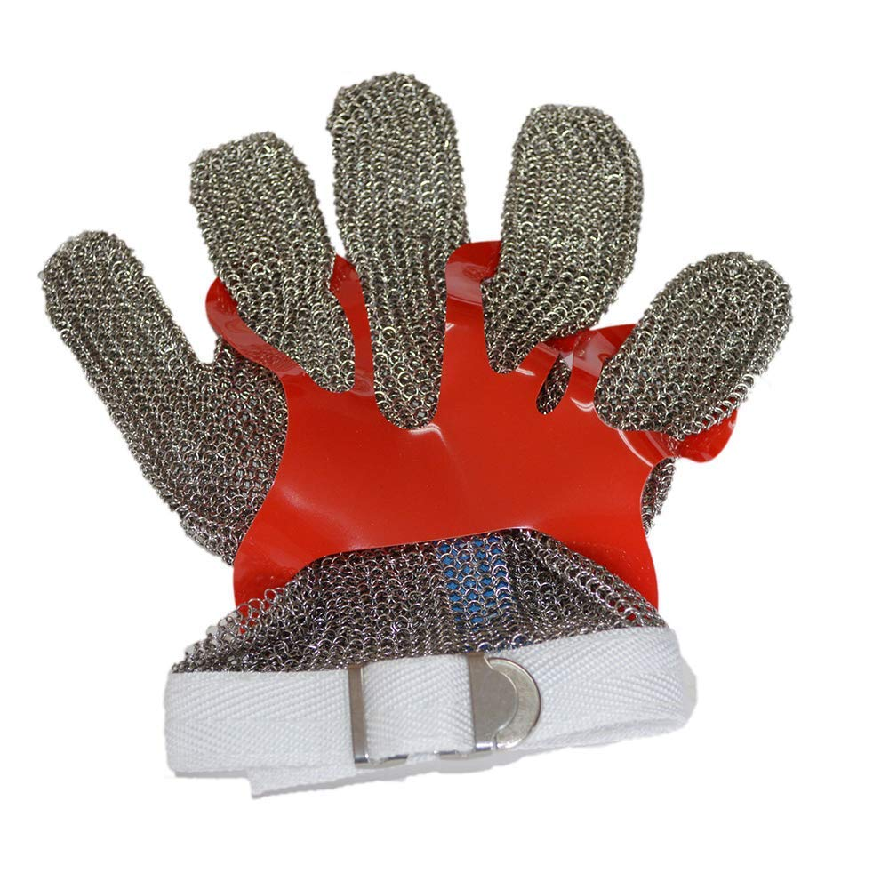 軍手 ステンレススチールメッシュ手袋 - キッチンブッチャー作業安全のためのカット抵抗 耐切創手袋  B07PP61TJL
