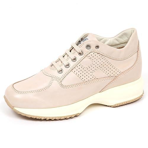 sneaker donna HOGAN INTERACTIVE scarpa H bucata beige shoe woman