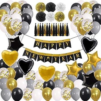 Amazon.com: Suministros de fiesta de Año Nuevo 2020 Kit de ...
