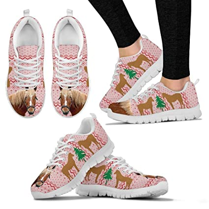 Curly Horse Print Christmas Running Shoes - Horse Lovers Gifts - Custom Print Design Athletic Tennis Shoes Sneakers - Pet Owner Lover Gift Ideas- Womenu0027s ...  sc 1 st  Amazon.com & Amazon.com : Curly Horse Print Christmas Running Shoes - Horse ...