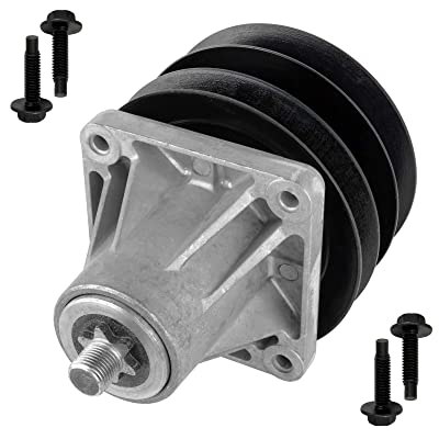 Caltric Spindle Assembly W/Pulley Bolt for Mtd Cub Cadet 918-0431 618-0431 918-0413: Automotive