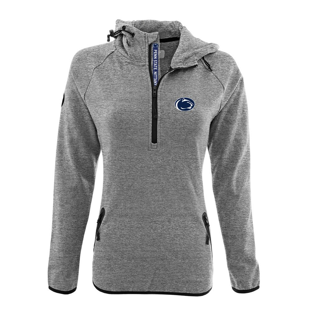NCAA Women 's Faint Insignia太字Quarter Zipミッドレイヤーシャツ B074QTHGS2 X-Large|Heather Pebble|Penn State Nittany Lions Heather Pebble X-Large