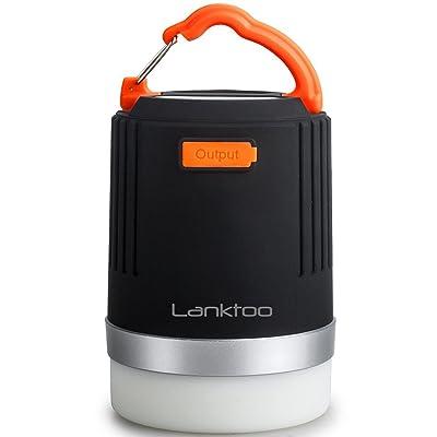 Lanktoo 2 en 1 Lanterne, Rechargeable Ultra Brillant LED Camping Lanterne & Portable 8800mAh Power Bank