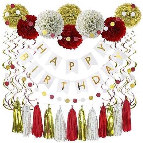 Cartel De 35 Piezas Para Cumpleaños Decoración De Fiesta En
