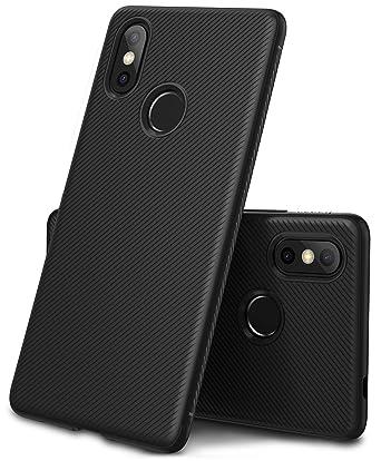 promo code 36bea bbf27 Geemai XiaoMi Mi 8 Case, Black Soft Cover for XiaoMi Mi 8 Covers ...
