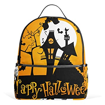Moda escuela Mochilas Halloween Night Moon bat árbol ligero bolsas de hombro Cute Creative impreso mochila para adolescentes Niñas, niños: Amazon.es: ...