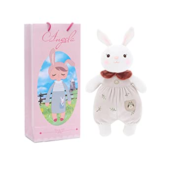 Amazon brown stuffed bunny rabbit soft dolls plush brown stuffed bunny rabbit soft dolls plush tiramitu rabbit cuddly toys with negle Images