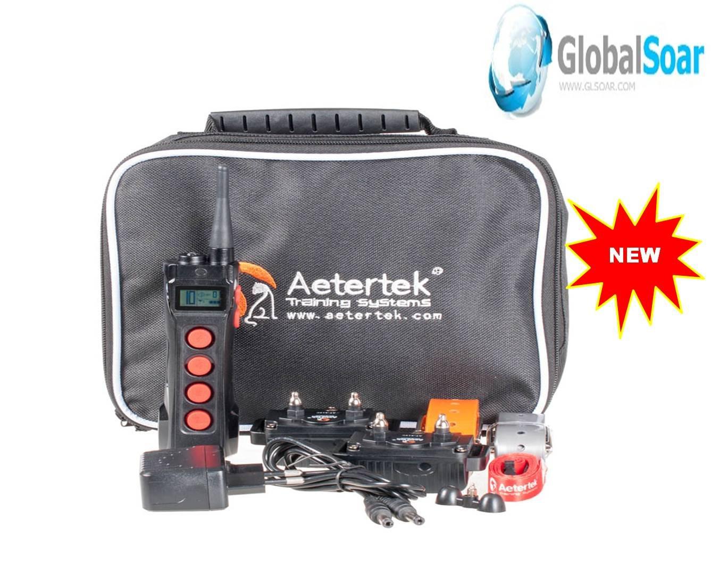 Aetertek 919C-2 1100 Yard 10 Level Two Dogs Training Anti Bark & Waterproof Collar by Aetertek