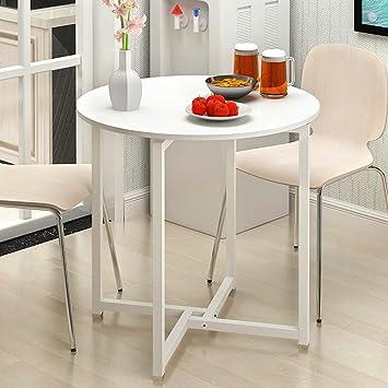 Amazon.de: Moderne Runde Tisch Home Küche Wohnzimmer Esstisch Balkon ...