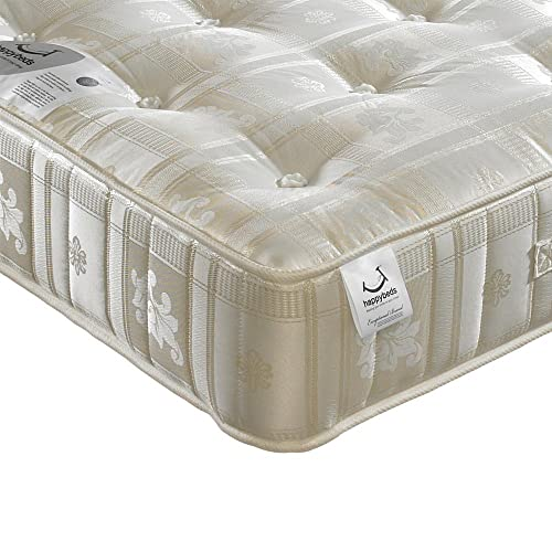 Orthopaedic 1000 Pocket Sprung, Happy Beds Majestic Medium Tension Mattress - 4ft6 Double (135 x 190 cm)