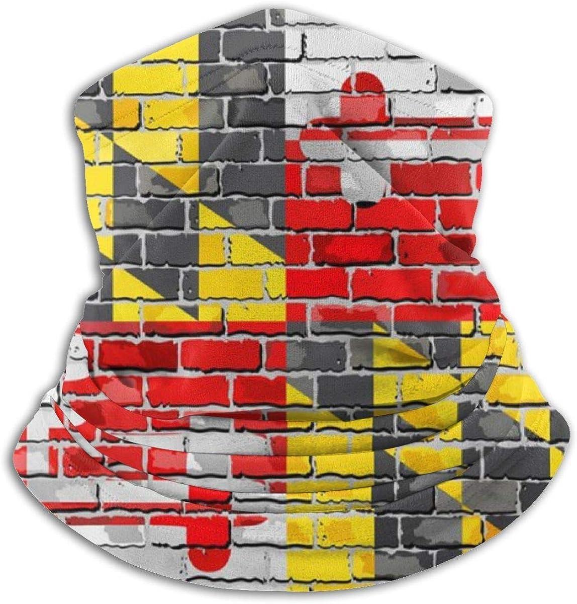 beibao Fag Of Maryland Wall Neck Polaina Bufanda a prueba de viento Cuello a prueba de polvo Versatilidad Media bufanda Diadema suave Bufanda de mufla cómoda