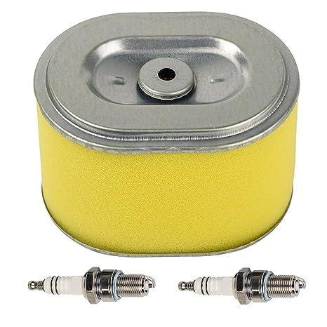 HIFORM - Filtro de aire con 2 bujías para Honda GX140 GX160 GX200 5,5