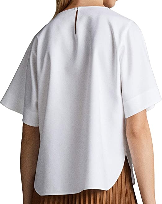 MASSIMO DUTTI 5140/617/250 - Camisa de Manga Corta para Mujer ...