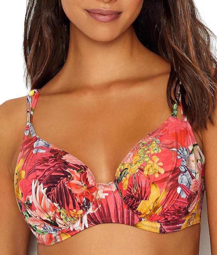 Anguilla Gathered Full Cup Bikini Top Sunset 38H