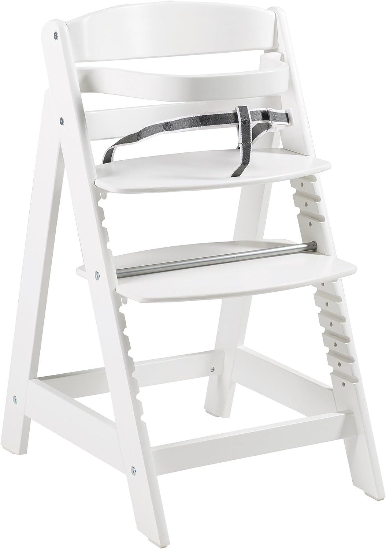 madera maciza Trona evolutiva roba Sit Up Click utilizable como trona para bebes y silla juvenil acabado en blanco. innovador sistema de cierre