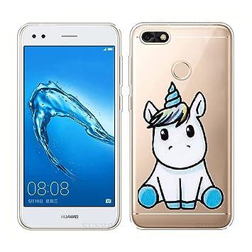 Funda para Huawei Y6 Pro 2017, JIENI Transparente Unicornio ...