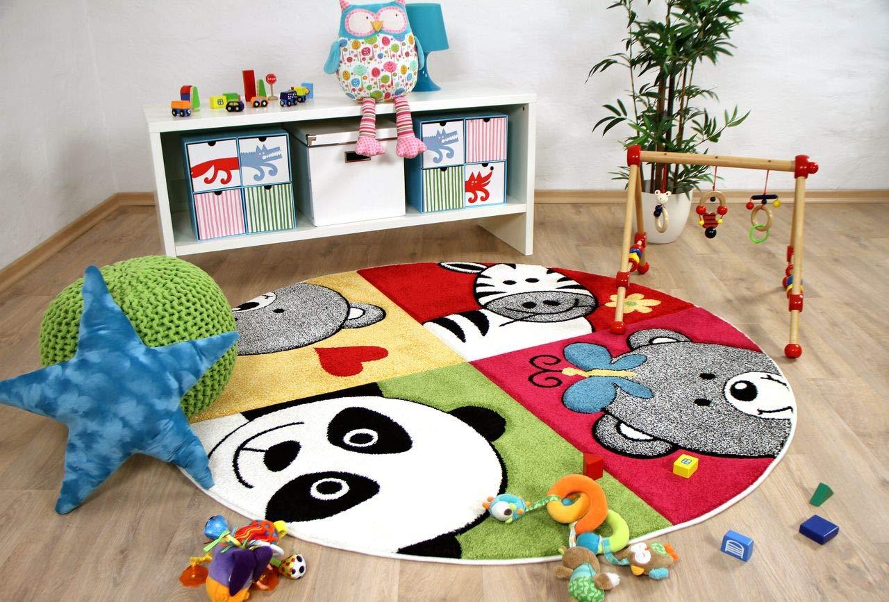 Savona Kinder Teppich Kids Lustige Zootiere Bunt in 3 Größen
