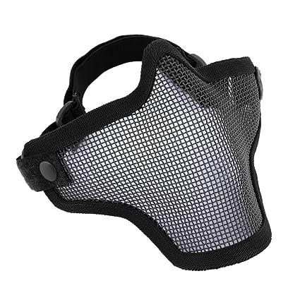 Máscara verde de protección para Airsorft, de malla con altura media