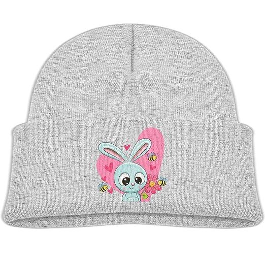 48d3e52b2a6 Amazon.com  Sweet Rabbit Flower Bees Heart Beanie Caps Skull Hats ...