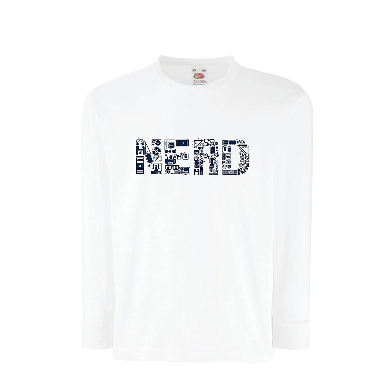 lepni.me Kids Boys/Girls T-Shirt Nerd - Cute Geek Programer Or Gamer Funny Gift IDea VACOM ADVARTAIZING Ltd