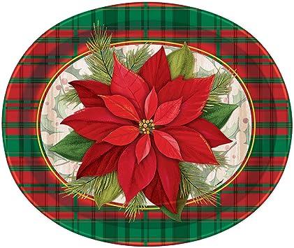 Cuadros de Pascua Oval platos de papel para fiesta de Navidad ...