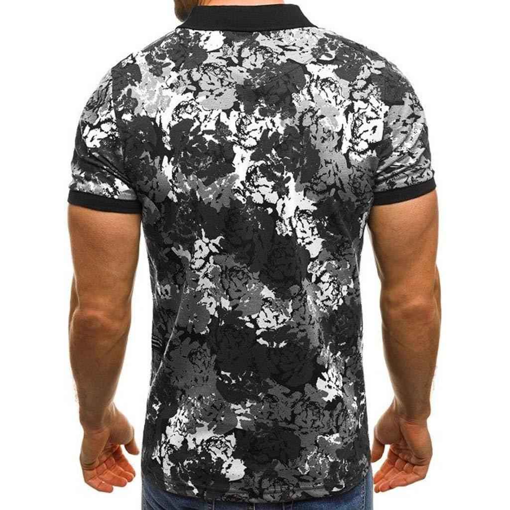 Completi Sportivi BaZhaHei Moda Camuffare Stampato T-Shirt Uomo Maniche Corte Pullover Estate Tee Canotta Uomo Bodybuilding Tank Maglietta Casuale Fitness Top Camicia da Uomo Slim Fit