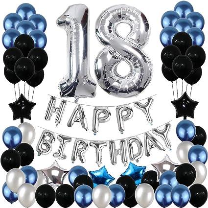 Amazon.com: Adornos para cumpleaños 18, 18 cumpleaños, 18 ...