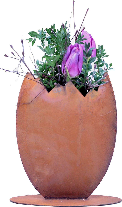 Rostikal Edelrost Gartendeko Osterei Zum Bepflanzen 23 Cm Osterdeko Vintage Deko Frühling Tischdeko Garten