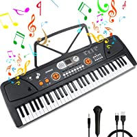 Teclado Piano 61 Teclas Teclado de Piano Portátil