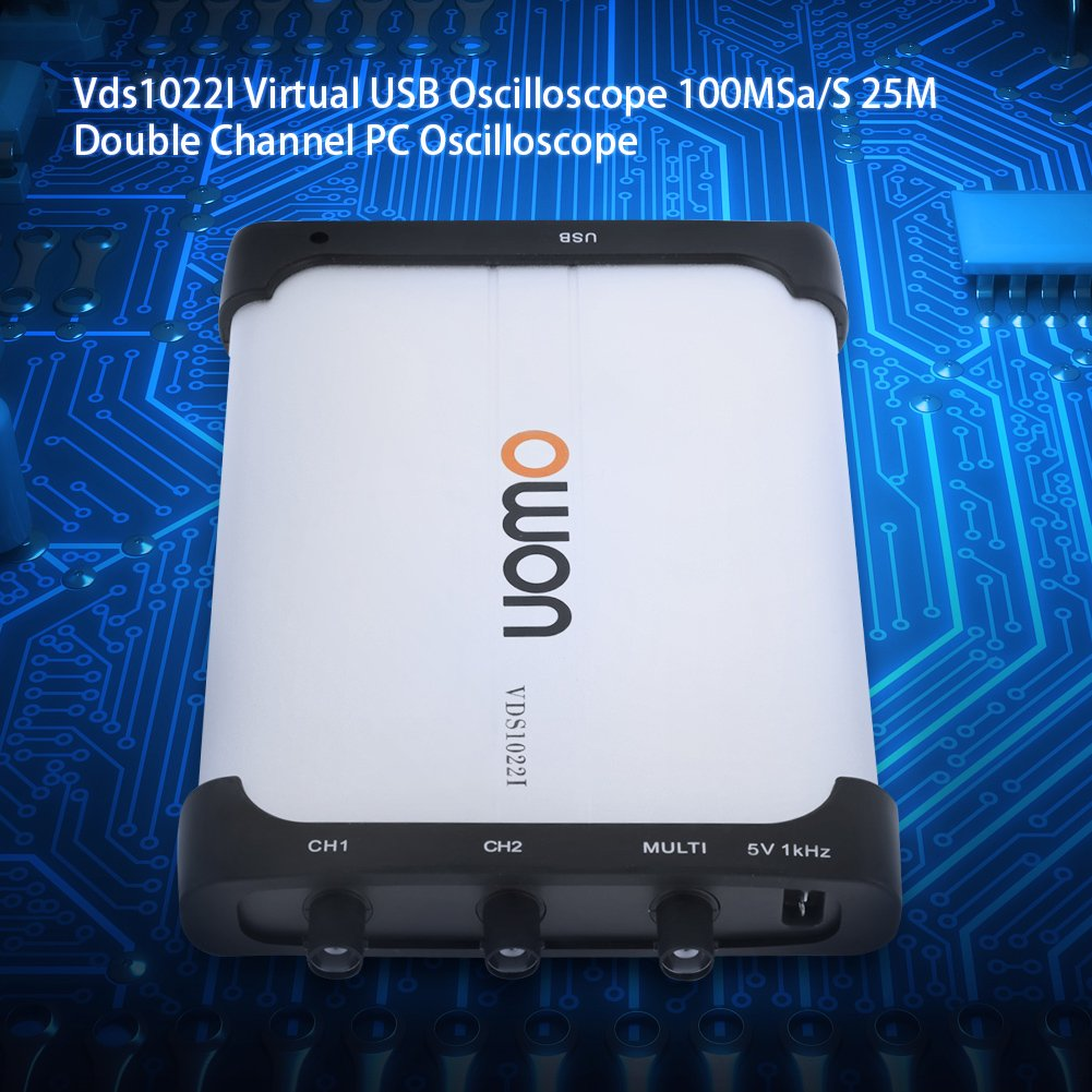 Virtual Double Channel USB Oscilloscope 100MSa//S 25M VDS 1022I Isolation PC Oscilloscope