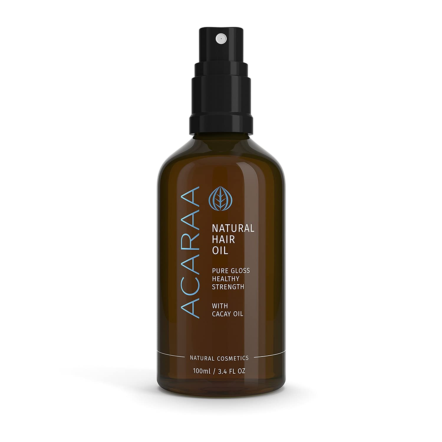 ACARAA Hair Oil Organic, Leave In Conditioner For Dry Hair With Argan Oil, Almond Oil & Jojoba Oil, Oil Treatment For Hair Strength, Non Greasy Hair Oil, Natural Cosmetics Made In Germany, 3.4 oz Bonstato Inc.
