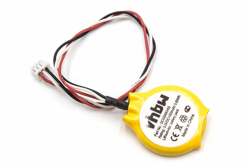 vhbw Li-Ion Bios Batterie 200mAh (3V) Notebook Laptop Dell Latitude E6410, Latitude E6500, Latitude E6510 wie GC02000KH00. VHBW4251156551731