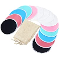Bamboo Nursing Pads (14 Pack)+Laundry Bag & Travel Bag, 4.7 inch Option - Washable & Reusable Nursing Pads(Gentle, Large…