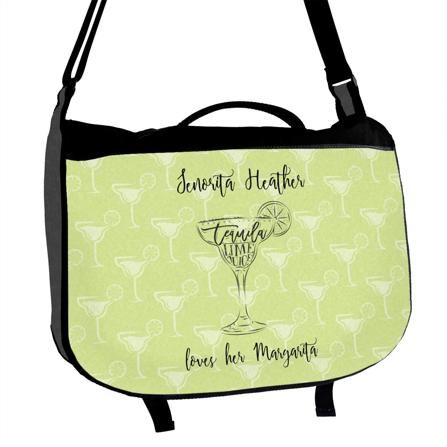 Personalized Margarita Lover Messenger Bag