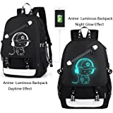 Anime Backpack Luminous Backpack Men School Bags