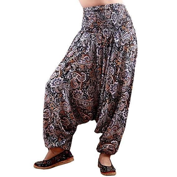 43f5529fa5a MissShorthair Women s Harem Pants Jumpsuit Loose Fit Hippie Bohemian Plus  Size  Amazon.ca  Clothing   Accessories