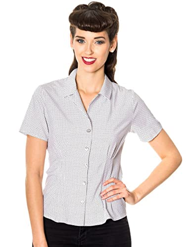 Dancing Days - Camisas - para mujer blanco y negro Medium
