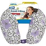 Cloudz Patterned Microbead Travel Neck Pillows - Purple Print