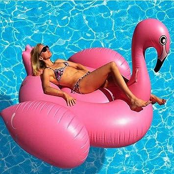 Cisne rosado anillo de la nadada piscina inflable flota la balsa juguete inflable del flotador con