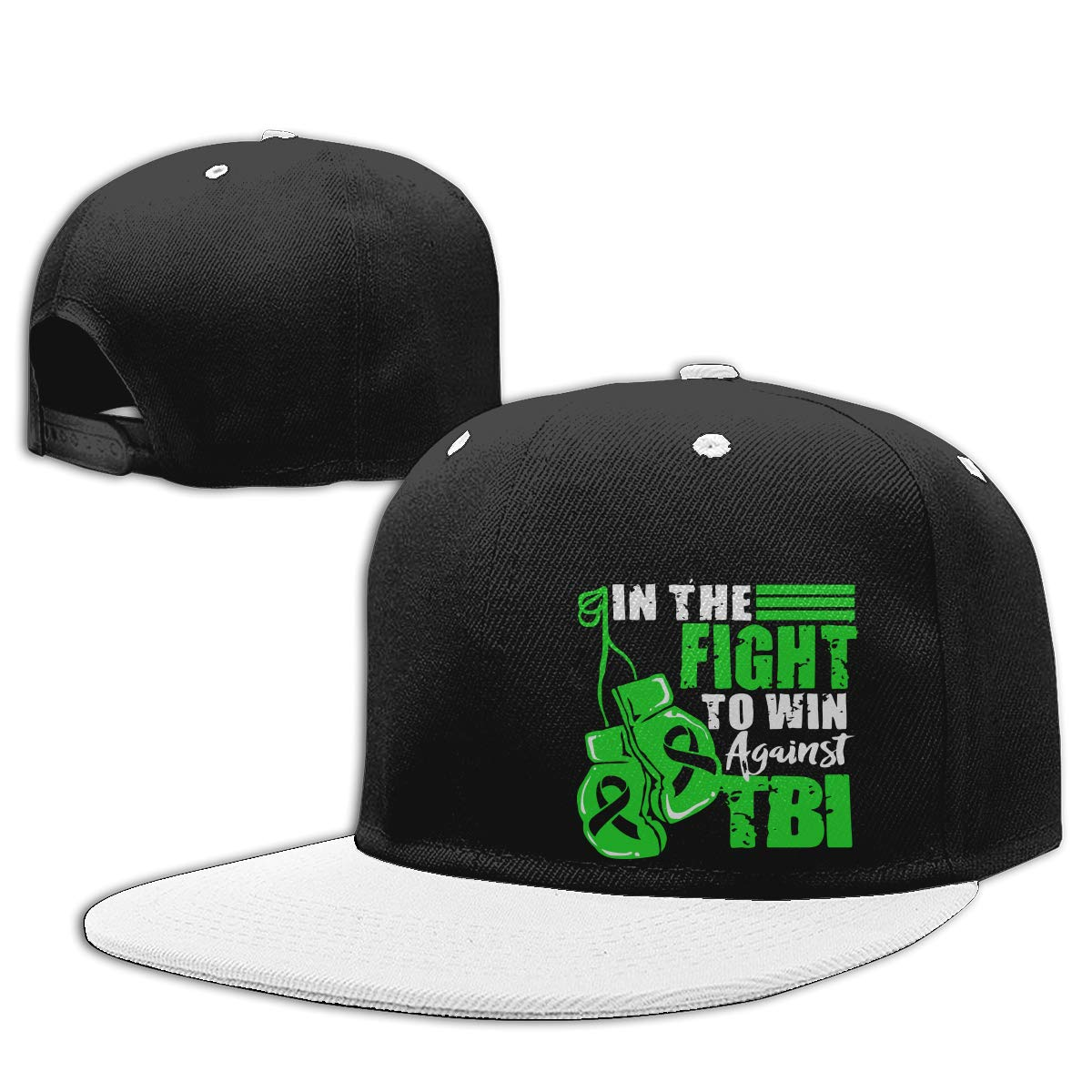NMG-01 Men and Women Hiphop Cap Brain Injury Awareness Adults Flat Peaked Baseball Caps