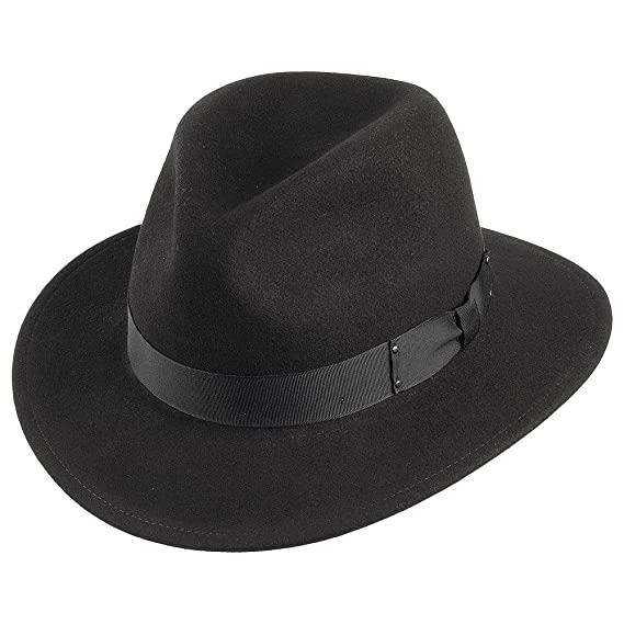 c6456a7a8 Bailey Hats Curtis II Crushable Fedora - Black