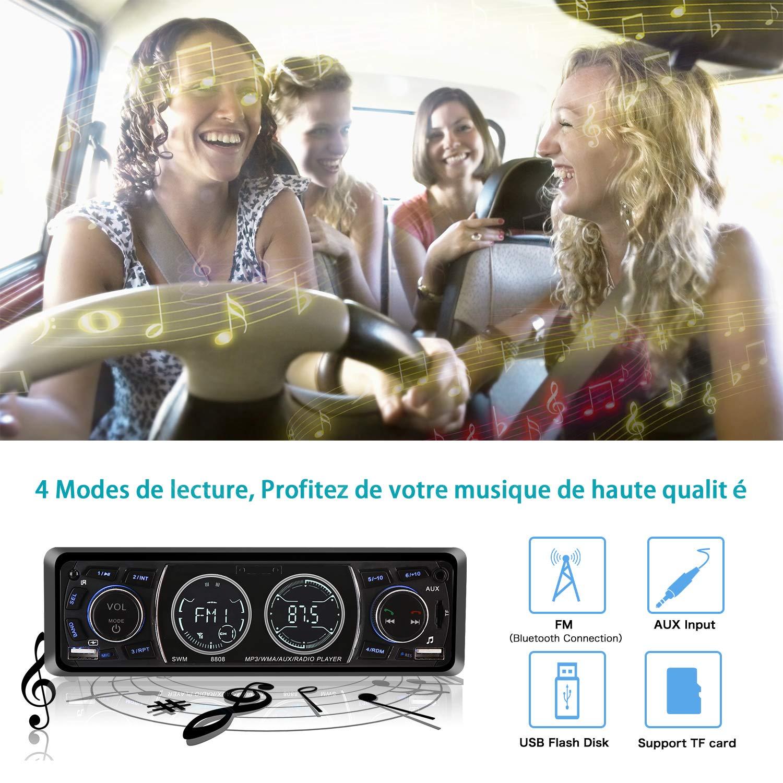 Poste Radio Voiture Bluetooth USB, MEKUULA 1 Din Autoradio FM Radio ... adb198f03ff